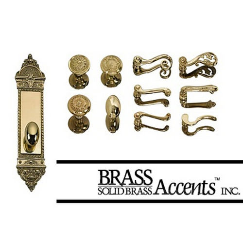 Brass Accents D04-K523G-EMP Renaissance Collection Door Plate Set, Satin Nickel