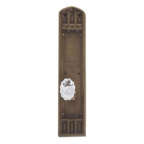 Brass Accents D04-K584D-LFT Renaissance Collection Door Plate Set, Aged Brass
