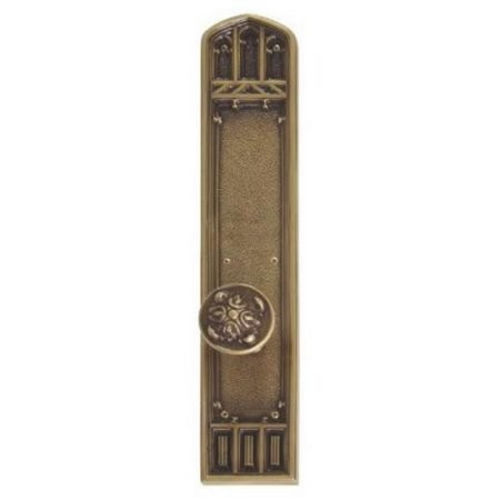 Brass Accents D04-K584G-MTL Renaissance Collection Door Plate Set, Highlighted Brass