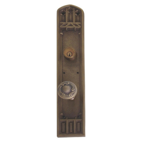 Brass Accents D04-K584J-LFT Renaissance Collection Door Plate Set, Satin Nickel