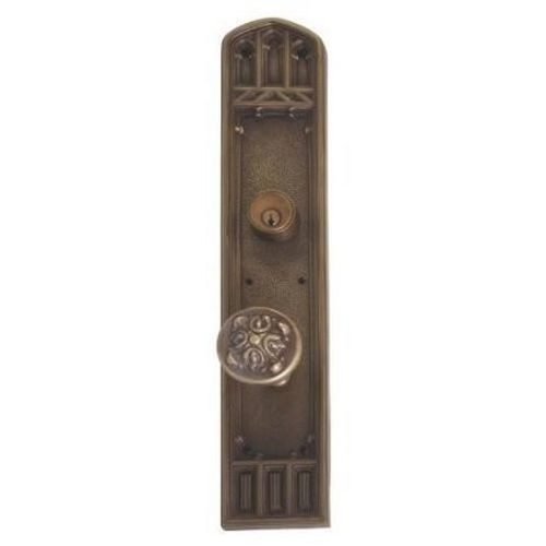 Brass Accents D04-K584J-MTL Renaissance Collection Door Plate Set, Aged Brass