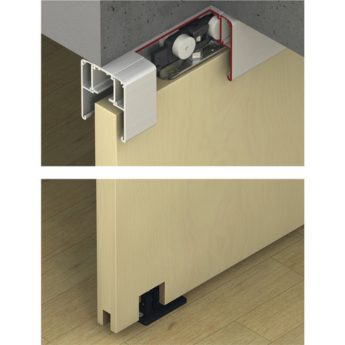 Hafele 940.82.566 Sliding Door Hardware, Slido Classic 80-O, set