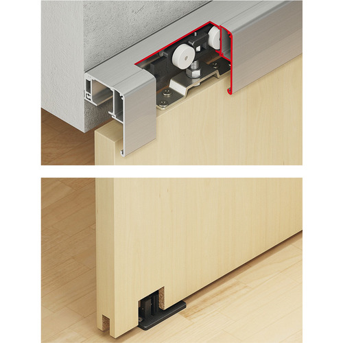 Hafele 940.82.562 Sliding Door Hardware, Slido Classic 80-P, set