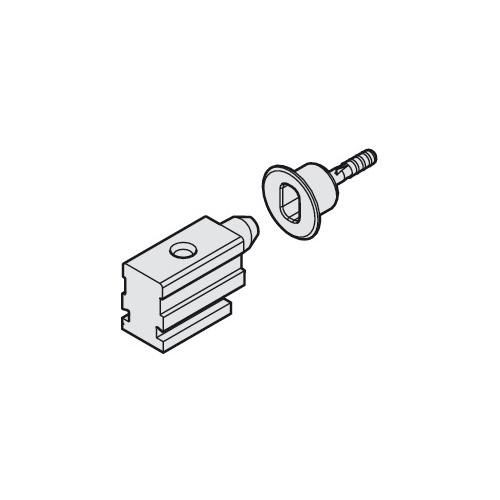 Hafele 943.31.040 Centring door stop, locking socket with mounting screw