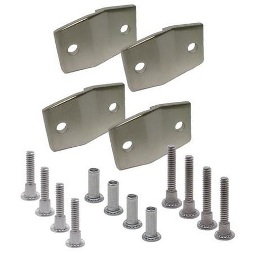 Jacknob 15303 Alcove Clip Pack 4 8343, Stainless
