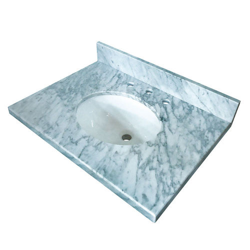 Kingston Brass KVPB3022M38 Fauceture Carrara Marble Vanity with Tops with 17