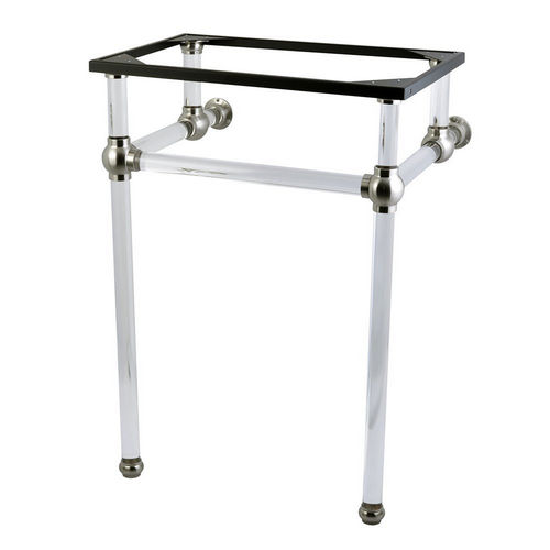 Kingston Brass VAH282033SN Fauceture Console Basin Holder with Acrylic Pedestal, Satin Nickel