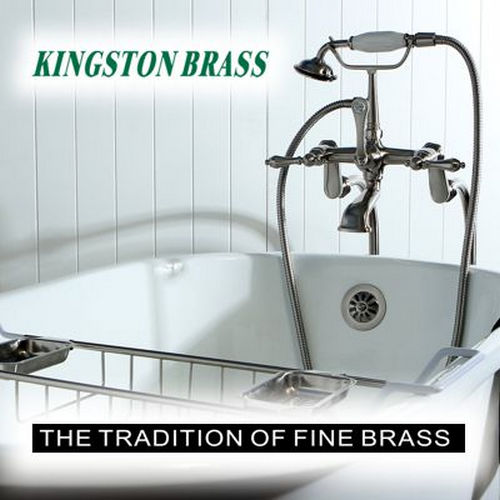 Kingston Brass EV4037F8228DL Soho Vitreous China Bathroom Sink & Faucet Combo, Satin Nickel