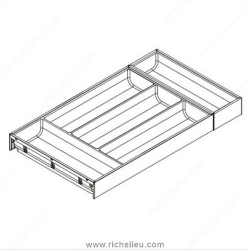 Richelieu WEBKIT1211854 Cutlery Insert for Legrabox Drawer
