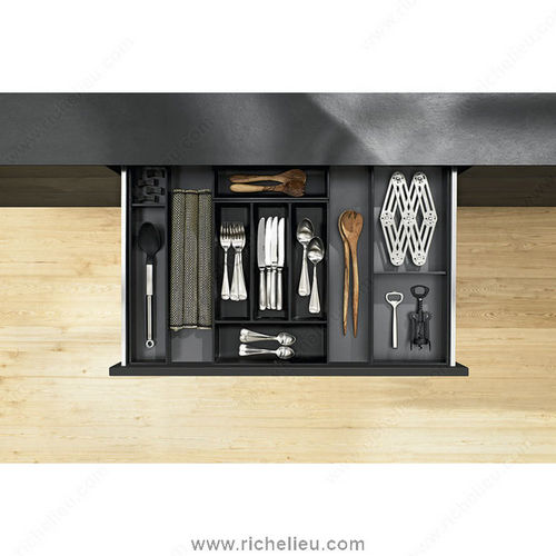 Richelieu WEBKIT1212148 Modular Ambi-Line Kits for Cutlery and Utensils for Standard Drawer