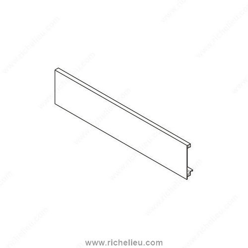 Richelieu ZV71043C0170 Legrabox Front Section for Inner Drawer with Tube