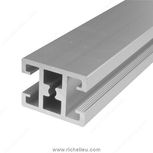 Richelieu 893007350 Frame Profile in Anodized Aluminum, Horizontal Front Divider, 3.5 m