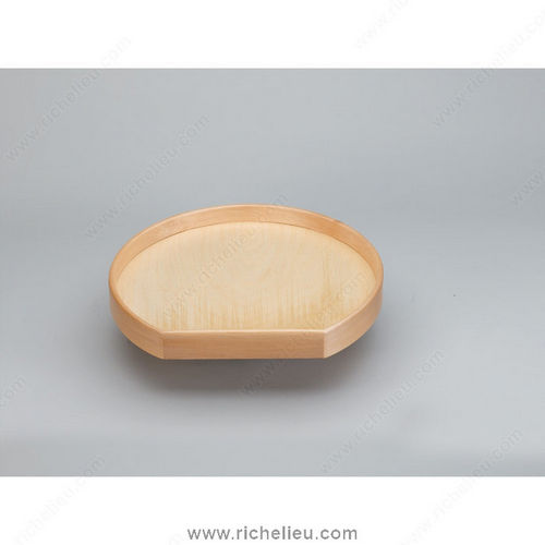Richelieu LD4NW20120BS1 D-Shaped Wooden Tray Set Individual