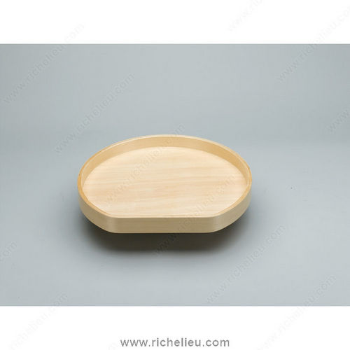 Richelieu LD4BW20128SBS1 D-Shaped Wooden Tray Set Individual