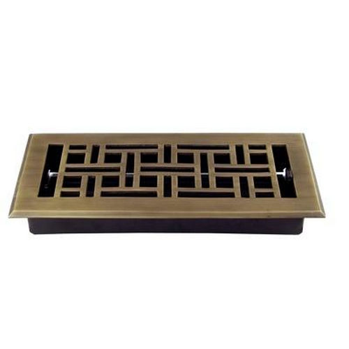 Richelieu 705310AE Floor Register - Arts & Crafts Style