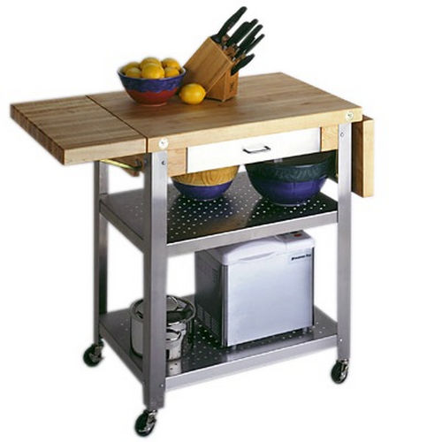 Richelieu 5020134 Butcher Block Trolley