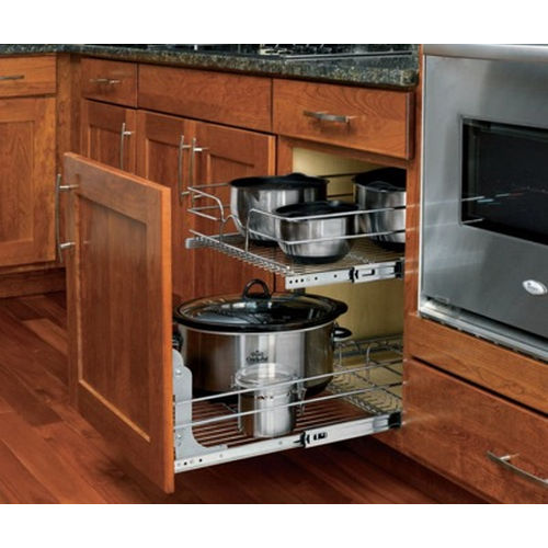 Richelieu 5WB20918CR Double Pull-Out Basket in Chrome Wire