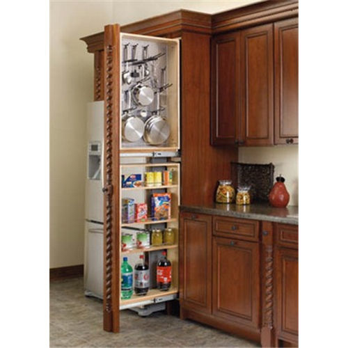 Richelieu 434TF45R6SS Tall Filler Organizer with Stainless Steel Panel