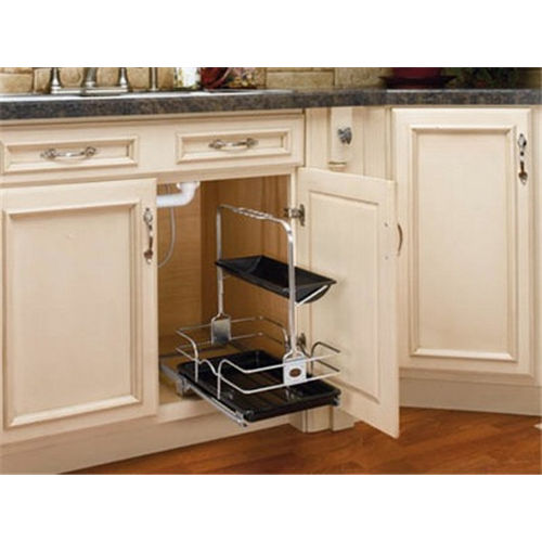 Richelieu 54410C1 Removable Under-Sink Caddy with Chrome Basket