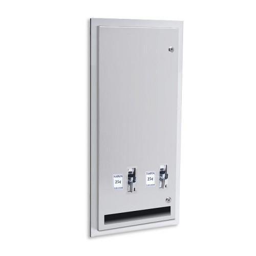 Ajw U526 10 Sanitary Napkin Tampon Dispenser 10 Cent