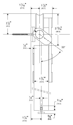 Pemko CS-W100/6 Stainless Steel Cushion Stop Track and